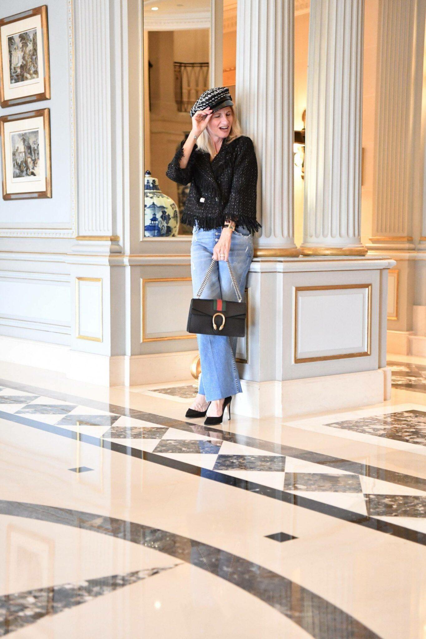 @funkyforty is wearing Millé Milano look,  Izabela Switon-Kulinska   In Galleria Vittorio Emanuele Milan.