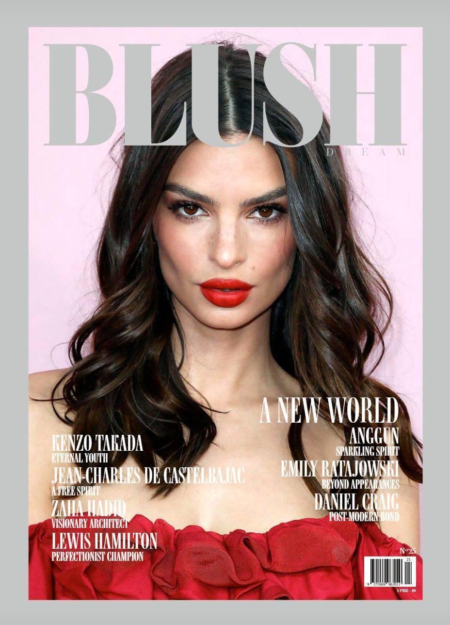 Emily Ratajowski on the cover of Blush Magazine