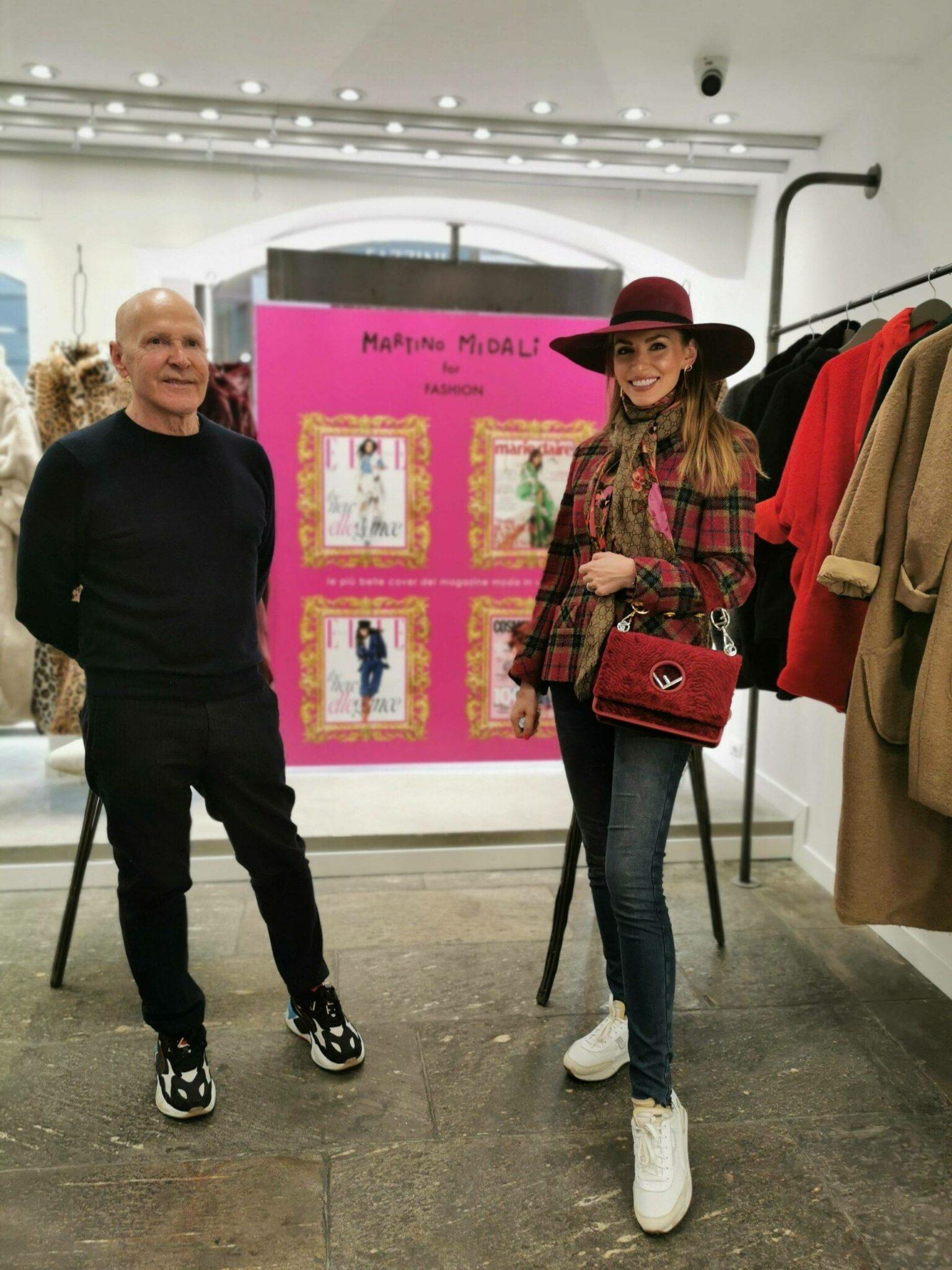 Izabela Switon-Kulinska (bella_zofia) with Martino Midali.  Martino Midali for Fashion, Milan Fashion Week FW 21/22