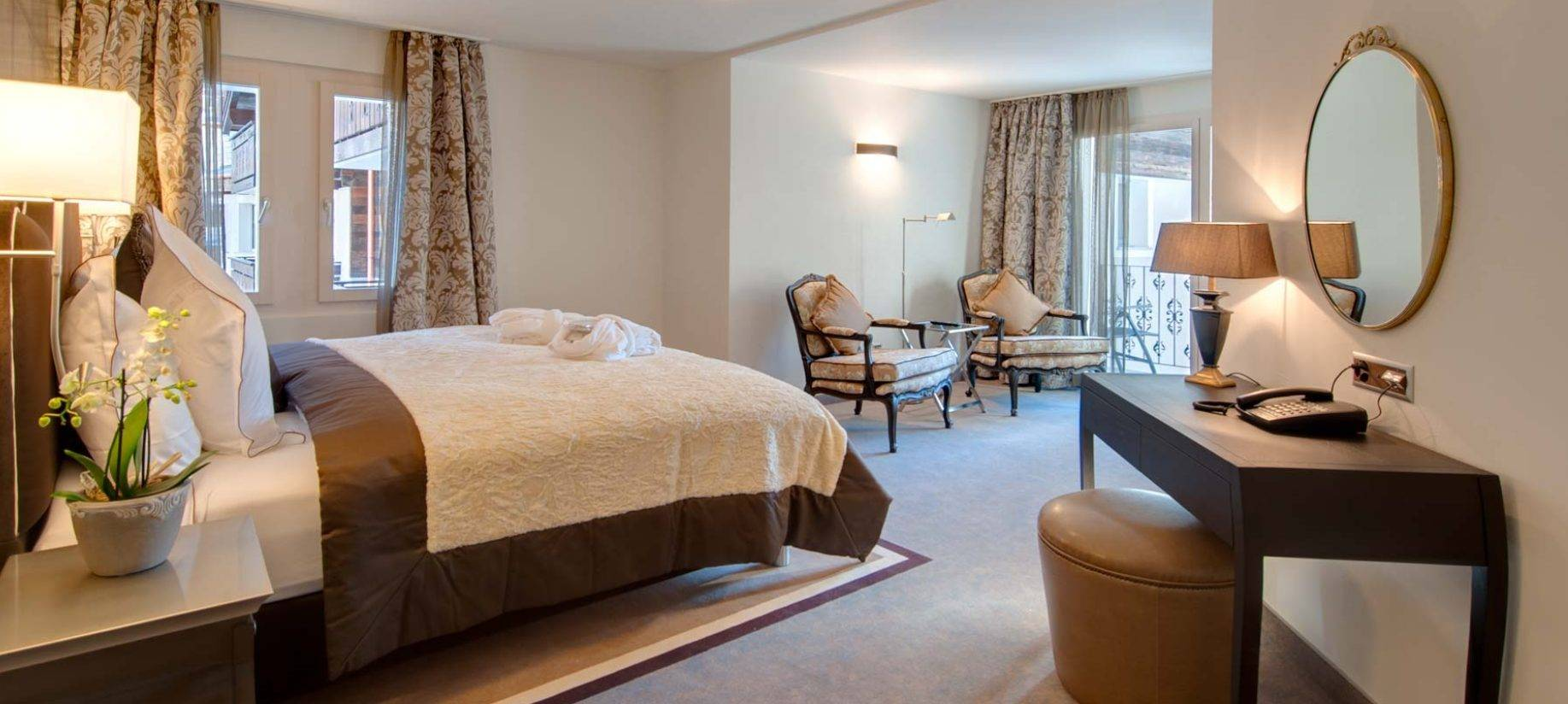 Superior double room in Schloss Hotel