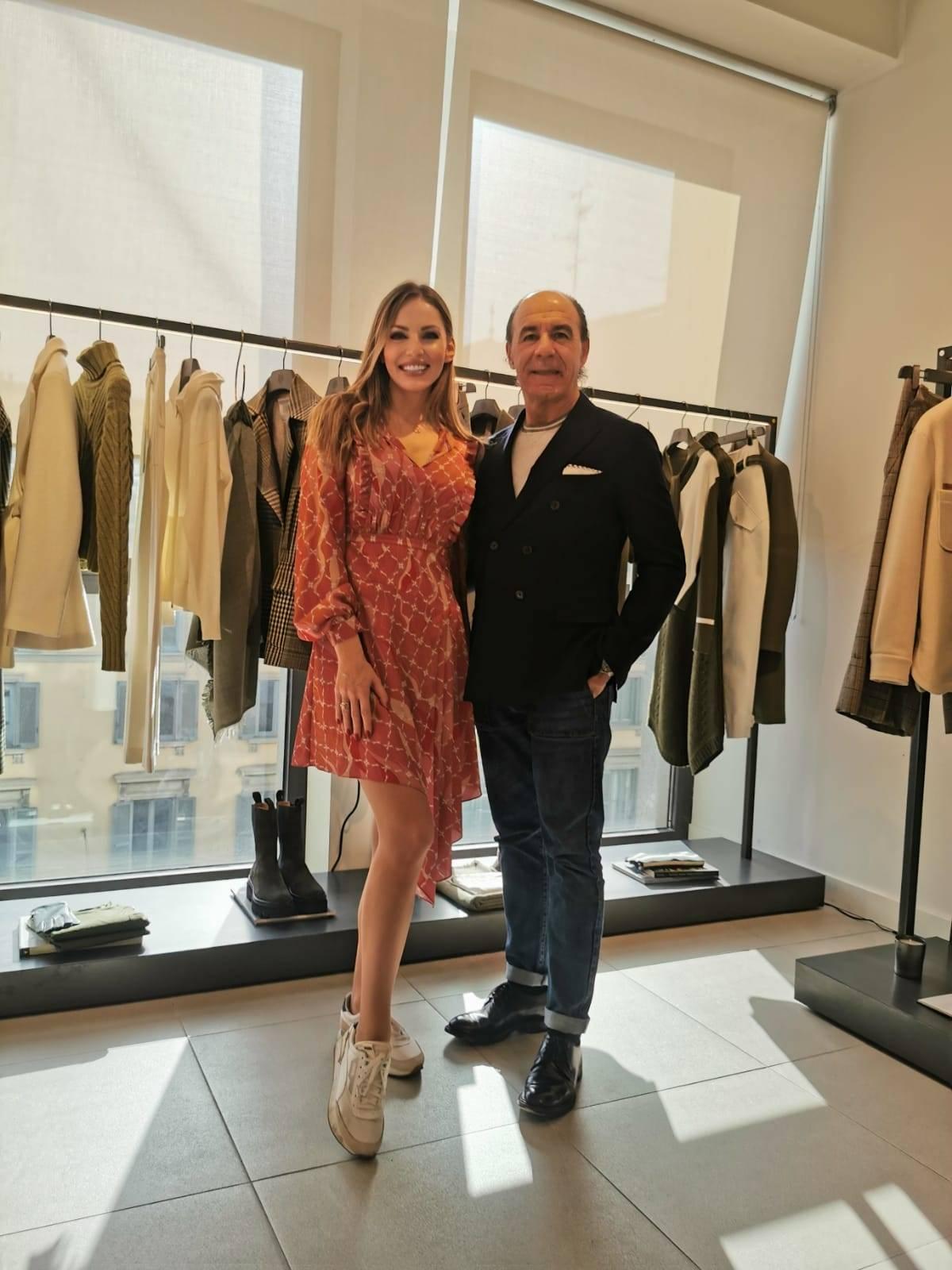 Izabela Bella_zofia with Paolo Zuntini from Eleventi. Milan Fashion Week